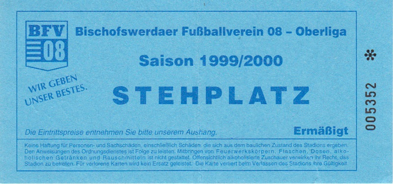 Programm 1999//00 Bischofswerdaer FV 08 Energie Cottbus Am.