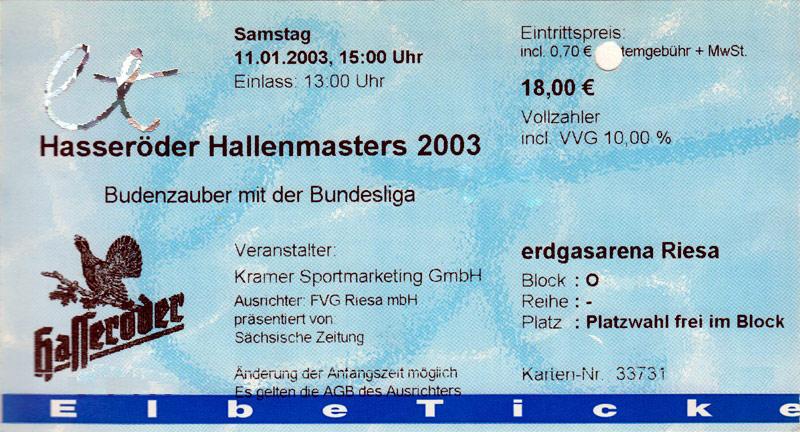 Programm 2001//02 FC Stahl Riesa 98 Sondershausen