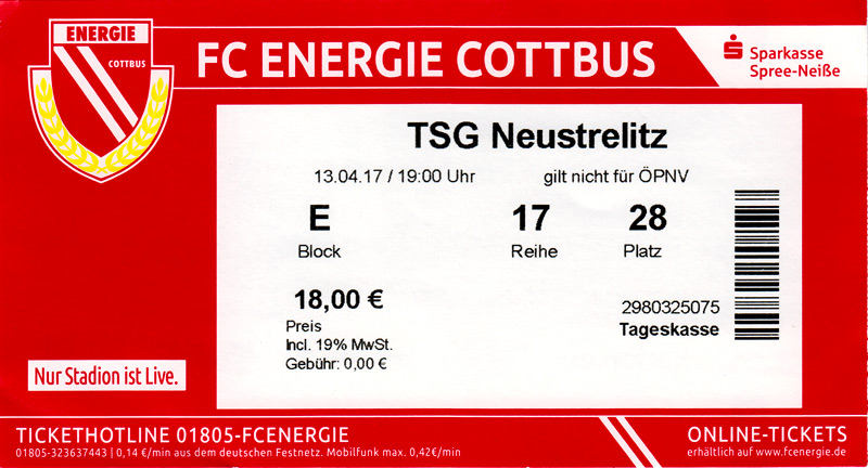 TSG Lübbenau Programm 1996//97 FSV Fürstenwalde